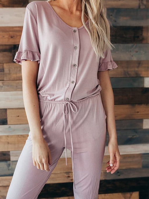Chellysun Comfy Short Sleeve Jumpsuits