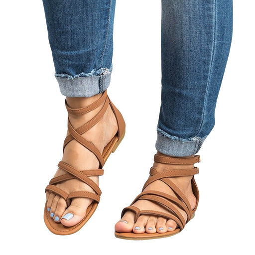 Chellysun Thong Criss Cross Gladiator Sandals