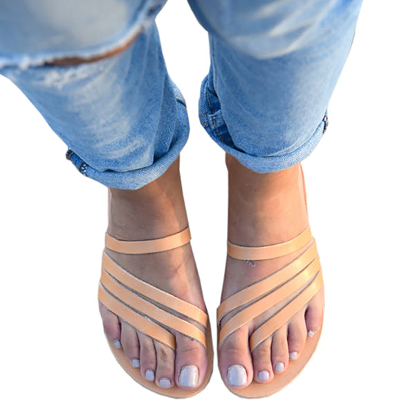 Chellysun Leather Flip Flops
