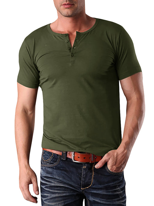 Chellysun Mens Solid Casual T-Shirt