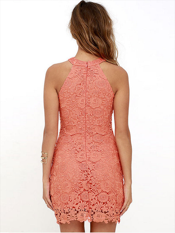 Chellysun Sheath Bodycon Short Lace Dress