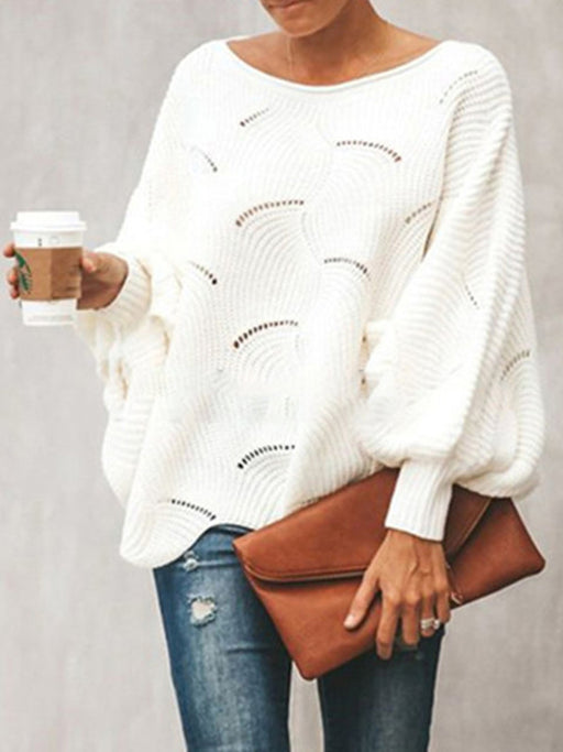 Chellysun See-Through Look Crew Neck Sweaters