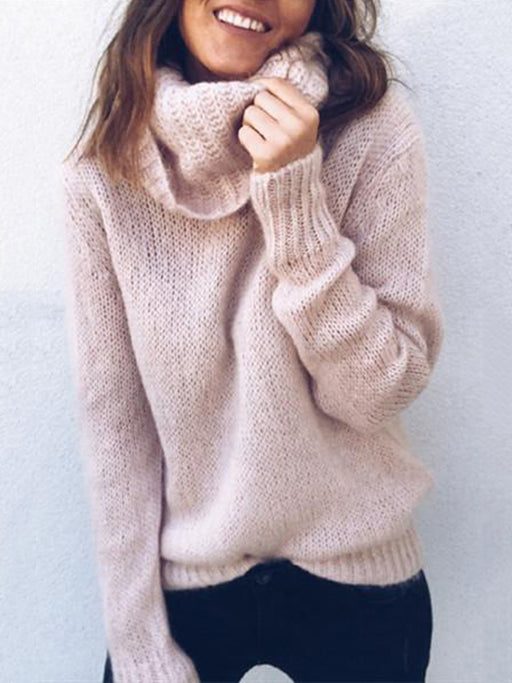 Chellysun Winter Casual Turtleneck Sweater