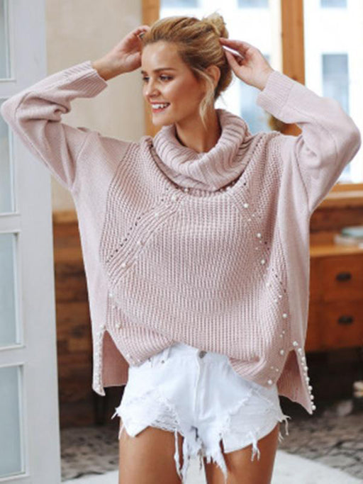 Chellysun High Neck Loose Knitting Sweater