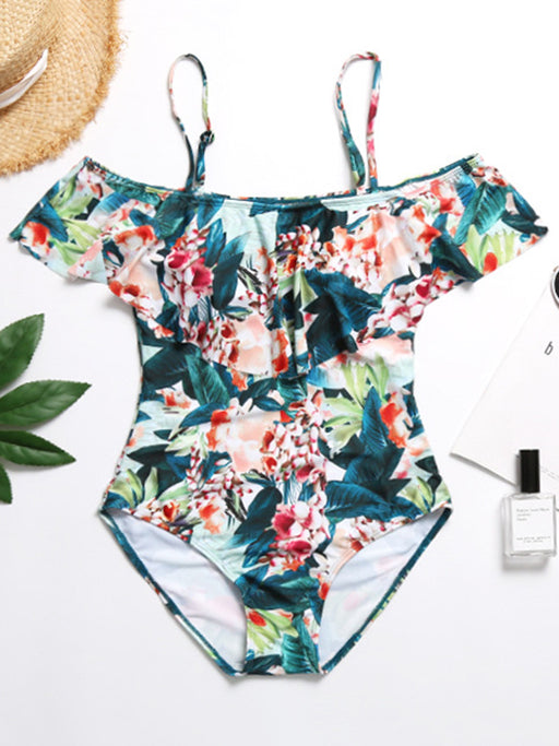 Chellysun Off The Shoulder Printed Swimsuit