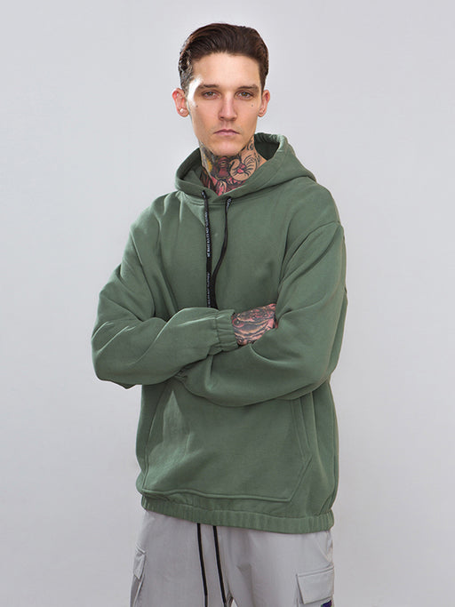 Chellysun Hip Hop Solid Cotton Hoodie