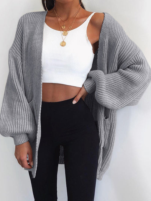 Chellysun Oversized Batwing Knit Cardigan