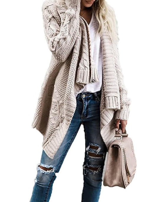 Chellysun Coat Fashion Knitted Sweater Cardigan