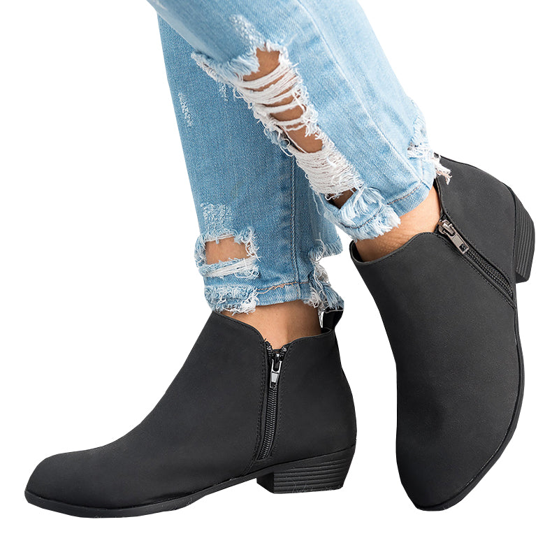 Chellysun Autumn And Winter New Fashion Zipper Boots - Chellysun
