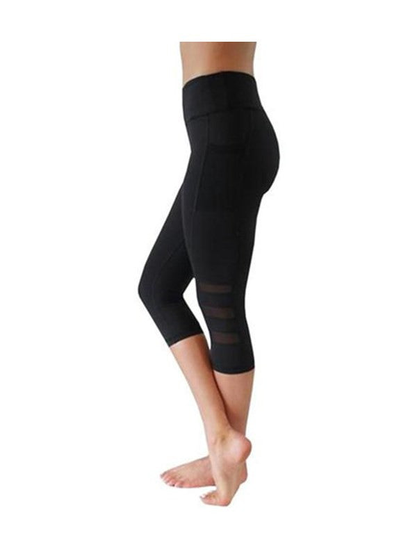 Chellysun Solid Color Tight Sports Style Leggings-S