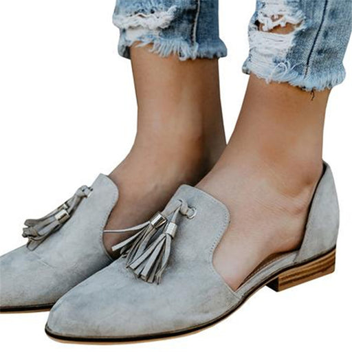 Chellysun Tassel Pointed Casual Flats
