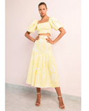 MIDI SKIRT, PAISLEY LEMON