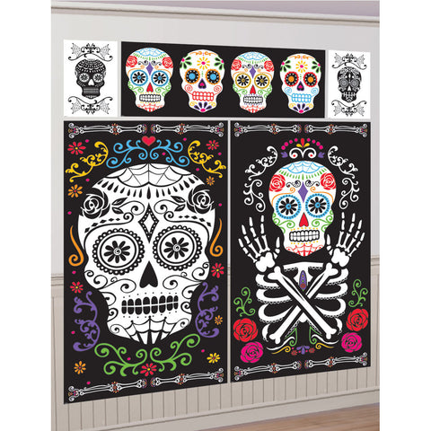 Day Of The Dead Scene Setter Halloween Decoration