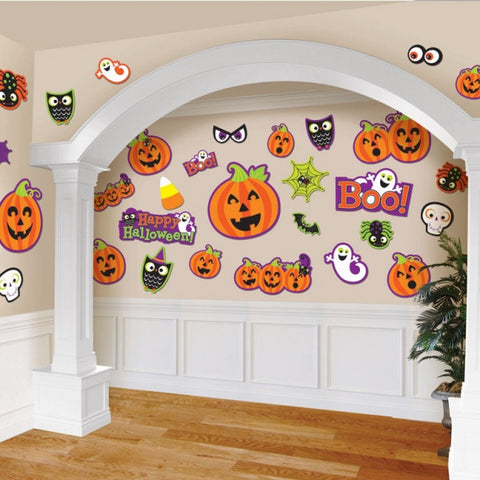 Friendly Halloween Cutouts - Halloween Decoration (Pack of 30)