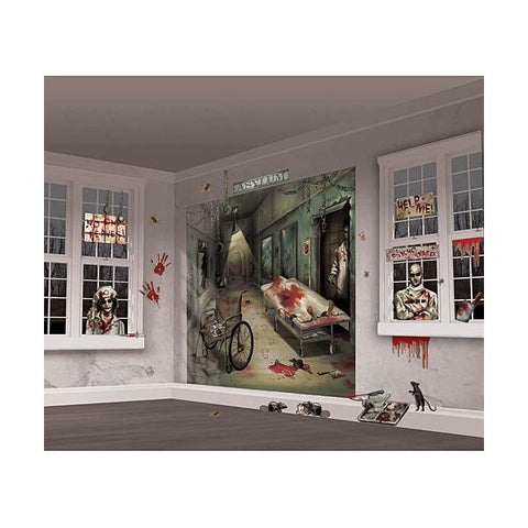 Asylum Scene Halloween Wall Decorating Kit