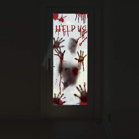 Bloody Handprint Window & Door Stickers