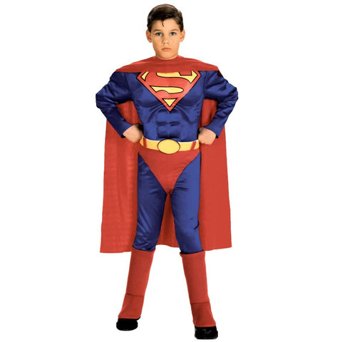 Deluxe Muscle Chest Superman Costume Child