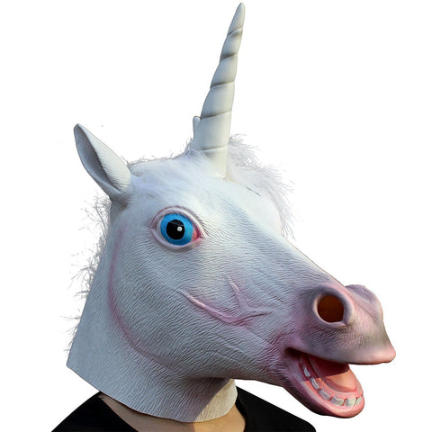 Unicorn Head Latex Full Adult Mask