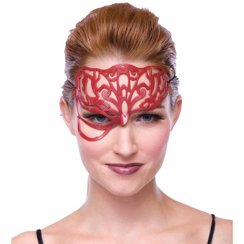 Dark Allure Filigree Dark Red Mask Adult