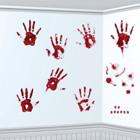 Bloody Skeleton Hand Prints - Halloween Decoration