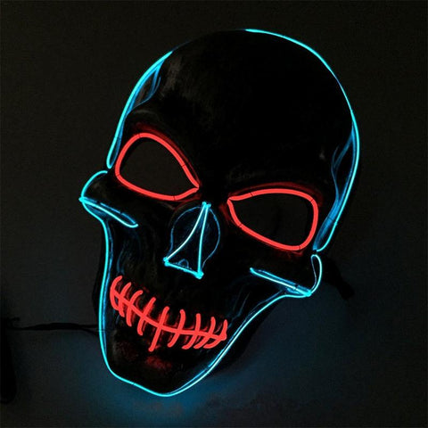 Glowing LED Mask | Grey x Blue
