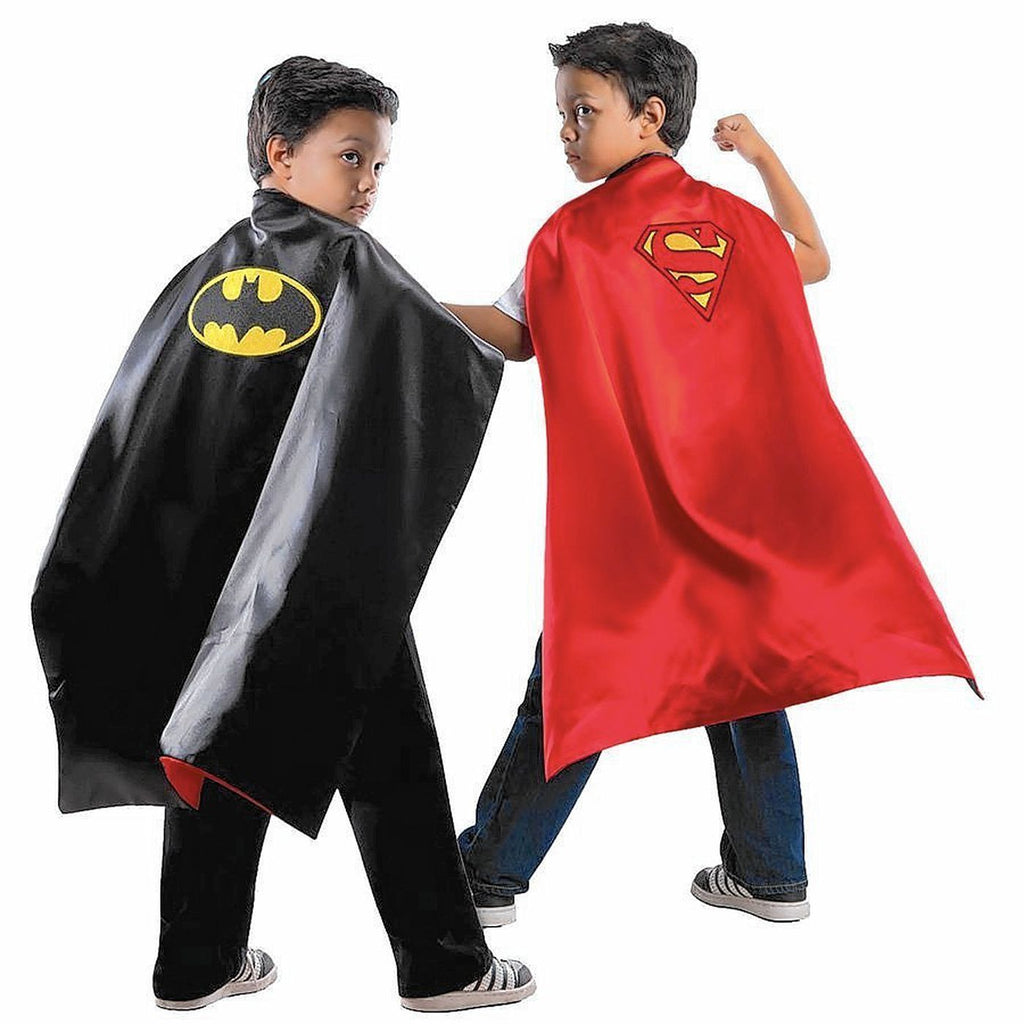 Reversible Batman and Superman Cape