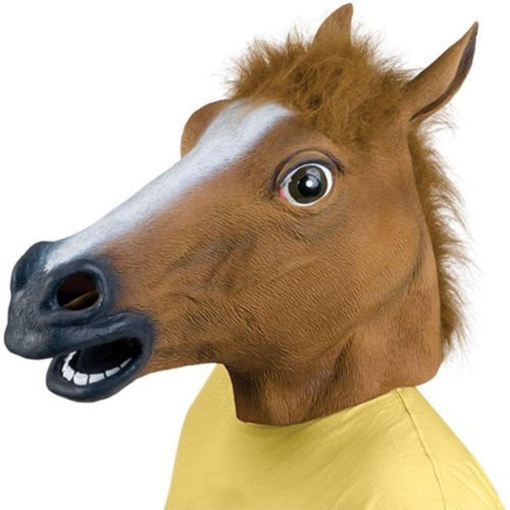 Horse Head Latex Full Adult Mask