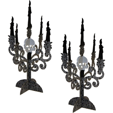 Halloween Candelabra Table Centrepiece (2pk)