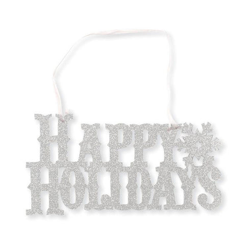 Glitter Sign - Happy Holidays Hangers