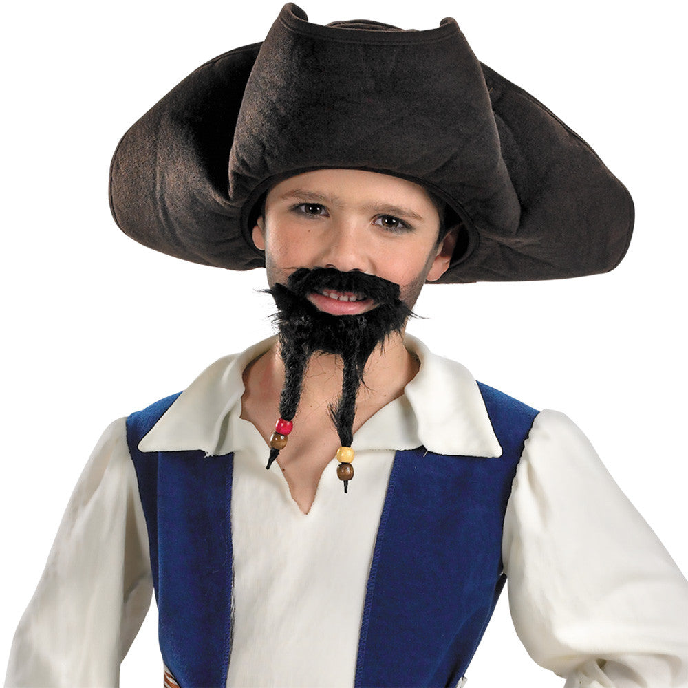 Disney Child Pirate Hat With Moustache/ Goatee