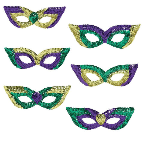 Mardi Gras Sequin Party Mask