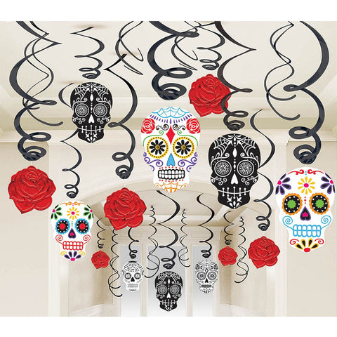 Day of the Dead Hanging Swirls