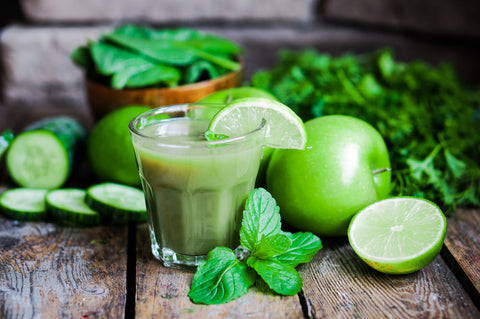 So many healthy ingredients in one healthy green smoothie