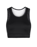 Vie Active - Holly Crop Sports Bra in Black Leopard - ghost