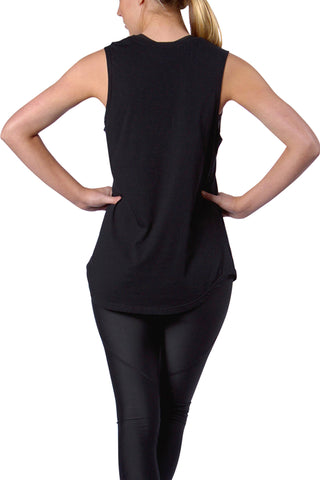 Black on Black Muscle Tee