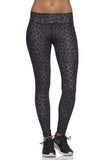 Six30 - Charcoal Cheetah Compression Tights