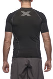 Six30 - men's black Short Sleeve Compression Top