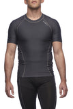 Six30 - charcoal short sleeve Compression Top