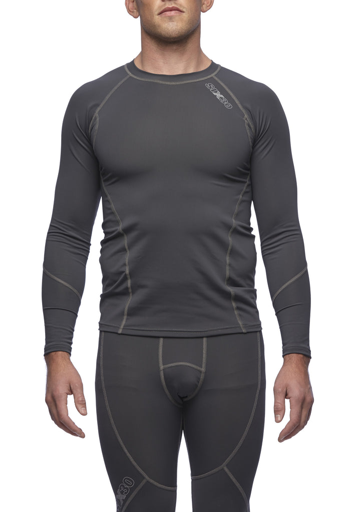 Six30 - charcoal long sleeve compression top