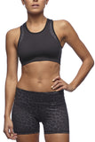 Vie Active - Holly Crop Sports Bra in Black Leopard