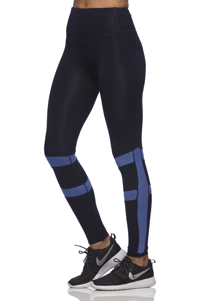 Yoga 213 - Long Beach Legging in Baja Blue print