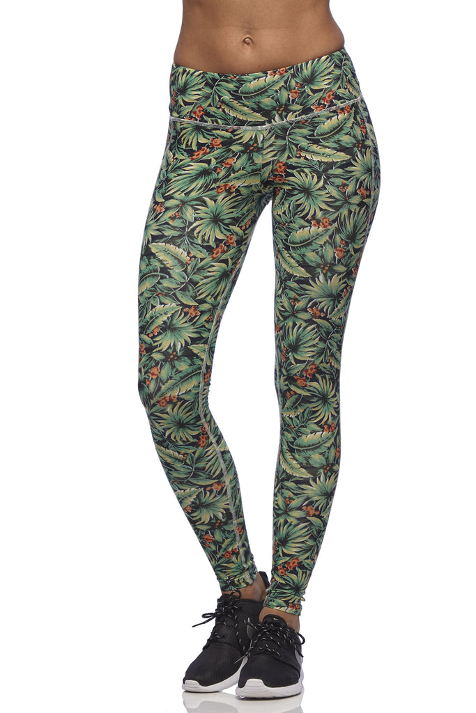 Yoga 213 - Long Beach Legging in Bird of Paradise print