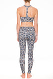 Yoga 213 - Long Beach Legging in Python print
