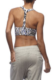 Yoga 213 - T Bar sports crop in Animal print