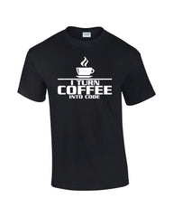 I Turn Coffee Into Code T-shirt - Dicky Ticker  - 1
