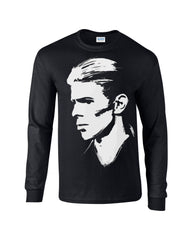 David Bowie Long Sleeve T-shirt Profile - Dicky Ticker