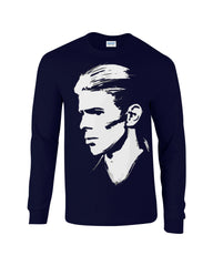 David Bowie Long Sleeve T-shirt Profile - Dicky Ticker  - 2