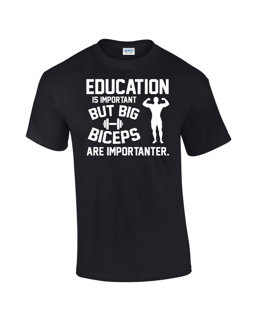 Education T-shirt Weight Lifting Biceps - Dicky Ticker  - 1