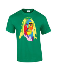 Iggy Pop T-shirt Multicoloured Face - Dicky Ticker  - 2