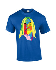 Iggy Pop T-shirt Multicoloured Face - Dicky Ticker  - 3